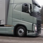 Volvo shows auto braking system for semi-truck crash prevention