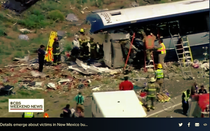 CBS News_Lawsuit in truck bus crash New Mexico_Coluccio