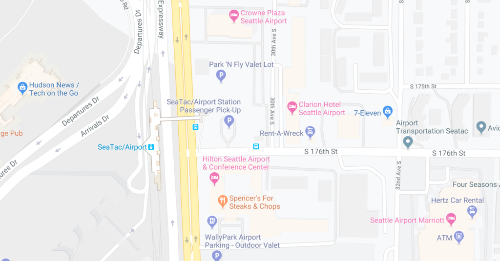 GoogleMap of shuttle bus crash location